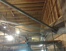 strengthening inside existing roof
