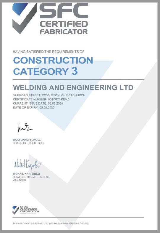 SFC Certificate